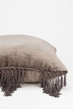 Magical Thinking Velvet Fringe Pillow. perfect color and texture