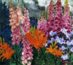 1926 Emil Nolde Jardin de fleurs X