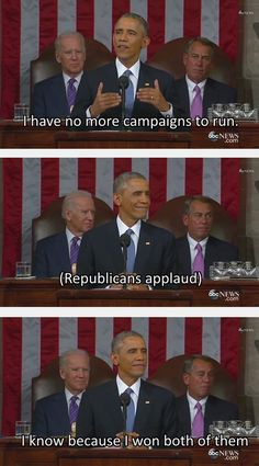 Burn Level: Presidential - I laughed so hard at this!  Lookit Boehner!  He looks so cheesed off. and Biden?  He's secretly laughing his ass off.