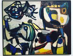 Karel Appel (1921-2006) was een Nederlands schilder en beeldhouwer in de moderne kunst uit de tweede helft van de twintigste eeuw. Hij brak door met zijn lidmaatschap van de Cobra-groep. Hij liet zich in deze periode vooral beïnvloeden door de kunst van Picasso, Matisse en Jean Dubuffet.