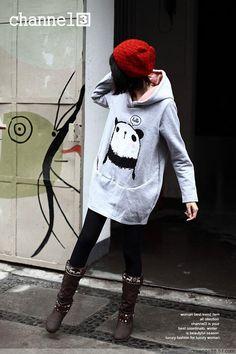 Sudadera Panda / Hooded Panda WH132 on Storenvy $19.95
