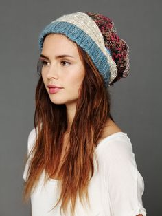 Free People Patchwork Beanie, $48.00