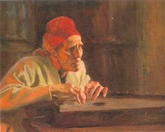"Albert Edelfeld, ""Old Woman Playing the Kantele"" Finland. Prehistory, Old Women, Finland, Light Colors, Westerns, Oriental, Folk, Museum, Woman"