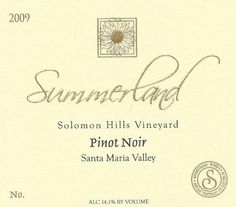 2010 Summerland Winery Solomon Hills Pinot Noir Wine 750 mL *** Check out the image by visiting the link.