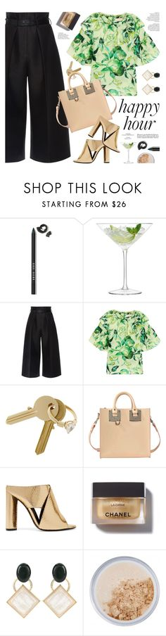 """""""bottoms up: happy hour"""" by jesuisunlapin ❤ liked on Polyvore featuring Bobbi Brown Cosmetics, LSA International, Martin Grant, Merchant Archive, Maison Margiela, Sophie Hulme, Tom Ford, Chanel, Marni and New CID Cosmetics"""