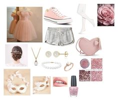 """Valentines #2"" by smilelykristenjoy on Polyvore featuring Hollister Co., Converse, Hue, David Yurman, Belk & Co., Masquerade and OPI"
