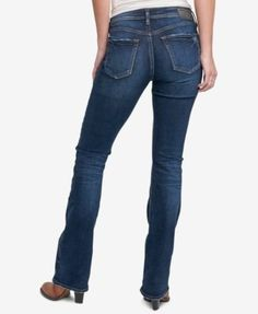 Silver Jeans Co. Curvy-Fit Boot-Cut Jeans - Blue 29x33