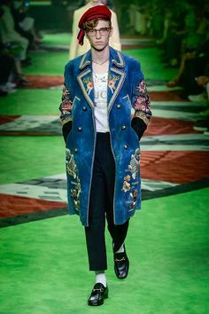 Gucci Spring 2017 Menswear Fashion Show - Milan Men Fashionweek - Bxy Frey