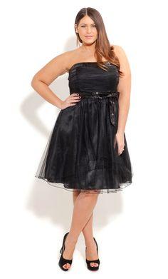 City Chic SUZIE SEQUIN PROM DRESS - Plus Sized Fashion - Dress - Wedding - Engagement - Races - Formal