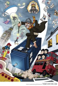 I figured it out!! This is how they're getting back to us for the tea in the harbor and that whole pesky revolution thing!! With Monty Python, Dr. Who, Harry Potter, and all of that. Sneaky sneaky Brits.
