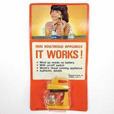 Vintage Mini Household Mixer Wind Up Toy Mint by CrankyCakesShop