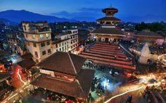Het Durbar plein in Kathmandu
