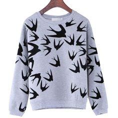 Cute Animal Pinted Pullover Sweatshirts