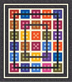 Note to Self-patchworktimes- Judy Laquidara With the borders as shown, the finished top will measure 79-1/2″ x 91-1/2″. This quilt was done as a Quilt Along in September-October, 2010.  The posts you need to do this quilt are listed ....