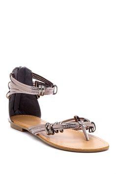 Carrini Zip Strap Sandal