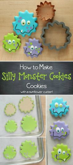 learn-how-to-make-these-simple-silly-decorated-monster-cookies-with-a-sunflower-cookie-cutter-they-are-great-for-halloween-birthday-parties-and-more-via-sweetsugarbelle-com