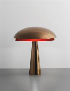 Favorite Picks: Phillips: Design: London  Brass and red glass table lamp // Fontana Arte