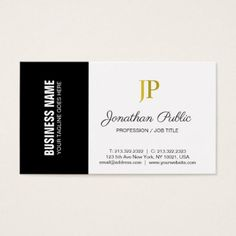 Creative Corporate Plain Modern Monogram Classy Business Card - create your own gifts personalize cyo custom