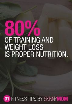 Did you know? > > 80% of training & weight loss is proper nutrition. Don't let YOUR hard work go to waste once you leave the gym...