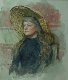 Portrait of E. Zvantseva, 1889  Ilya Repin