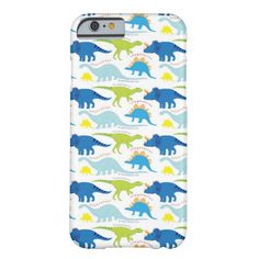 Dinosuar Designs Blue and Green Pattern Dino Gifts iPhone 6 Case