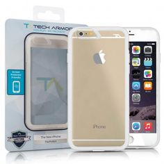 Protect your iPhone 6S Plus/ iPhone 6S with Tech Armor Case Sheer View FlexProtect  in Frosted Clear/Clear color!