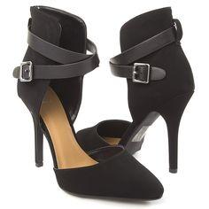 Delicious Womens 20-AIJAH Heel Pumps BLACK