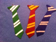 Felt Harry Potter Tie ornaments
