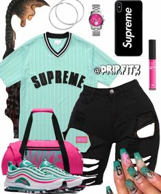 baddie outfits for school easy outfits to put together,easy fashion outfits comfy casual,easy fashion outfits for women Swag Outfits For Girls, Teenage Girl Outfits, Cute Outfits For School, Cute Casual Outfits, Teen Fashion Outfits, Fashion Clothes, Jordan Outfits, Nike Outfits, Cheap Outfits