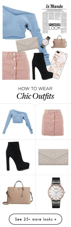 """Power Look"" by logibear1534 on Polyvore featuring Topshop, Casadei and Lodis"