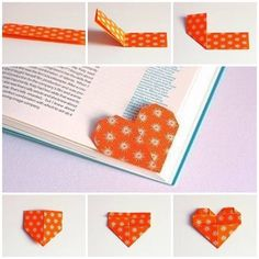 """library-lessons: """" cutielittledimple: """" DIY heart shape bookmark """" Awesome. No more dogearing the page. This means you! """""""