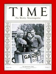 cover of time magazine,the 4 marx bros.