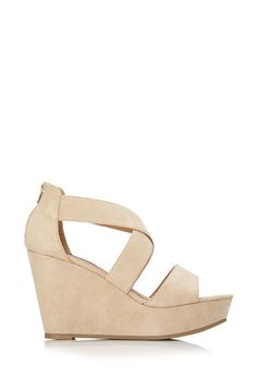 Strappy Wedge Sandals | FOREVER21 #FauxSuede #Sandals #F21Spring #Wedges