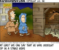 Reverend Fun's Top Five Christmas Cartoons, 2014 Edition on the bright side Christian Comics, Christian Cartoons, Funny Christian Memes, Christian Kids, Christian Humor, Religion Humor, Church Memes, Church Humor, Church Signs