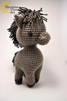 Horse pony amigurumi crochet toy by RoxanneMimeaultArt on Etsy