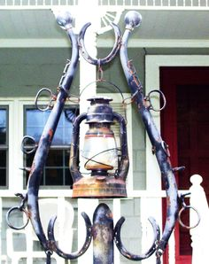 Vintage horseshoe lamp  at my GeeGee's house