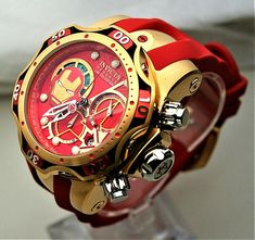 Lux Watches, Luxury Watches For Men, Cool Watches, Invicta Reserve, Iron Man Avengers, Marvel Clothes, Father Time, Marvel Actors, Watch Faces