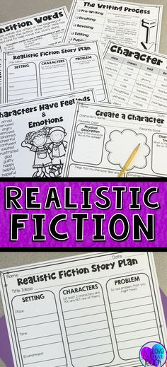 Let this step-by-step resource help your student write realistic fiction stories during Writing Workshop. Simple graphic organizers, activities, and planning sheets help your writers focus their thoughts and understand the various pieces that make up realistic fiction.