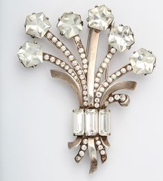 Eisenberg Original Sterling and Crystal Pin