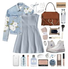 """""""Reina"""" by sophiehackett ❤ liked on Polyvore featuring Rebecca Taylor, philosophy, Trish McEvoy, Chloé, Chantecaille, Mark & Graham, Sophie Buhai, Susquehanna Glass, H&M and GET LOST"""