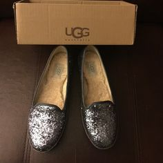 Ugg alloway glitter flats Sparkley and adorable So comfy and flashy a great touch with dark jeans UGG Shoes Flats & Loafers