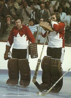 Tony Esposito and Ken Dryden | Team Canada-1972. I know technically there not Boston Sports, but they were 2 of the best goalies from when I was growing up.