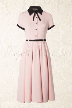 Vintage Dresses Collectif Clothing - Cynthia Doll Dress in Pink - Vintage 1950s Dresses, Retro Dress, Vintage Outfits, 60s Dresses, Doll Dresses, Dress Outfits, Dress Up, Cute Outfits, 1950s Fashion