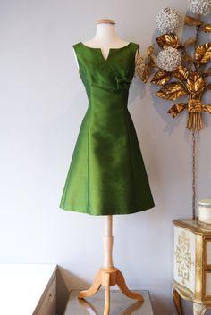 1960s Dress // Vintage 60s Dress // Vintage Green by xtabayvintage, $198.00