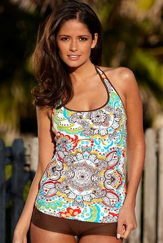 Retro Sport Tankini Top
