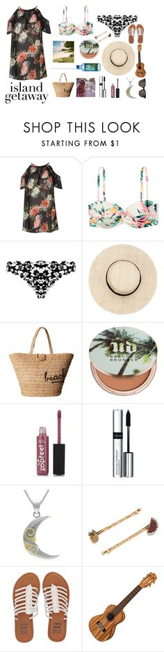 """""""Untitled #378"""" by cj34turtles on Polyvore featuring Boohoo, H&M, Marysia Swim, Hat Attack, Urban Decay, By Terry, Carolina Glamour Collection, Marc Jacobs, Billabong and TOMS"""