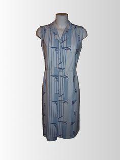 1980's Nautical Tunic Dress from www.sixesandsevensvintage.com at £18.00 Retro Vintage Dresses, Retro Dress, Dresses For Sale, Dresses For Work, 1980s, Nautical, Tunic, Fashion, Navy Marine