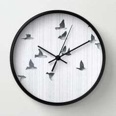 Birds Wall Clock by Leah Gonzales - $30.00