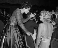 Marilyn Monroe and Eartha Kitt. | Flickr - Photo Sharing!