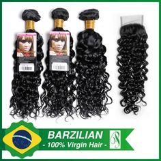 Brazilian Curl with a Closure Virgin Hair, Curls, Closure, Natural Hair, Hair Weaves
